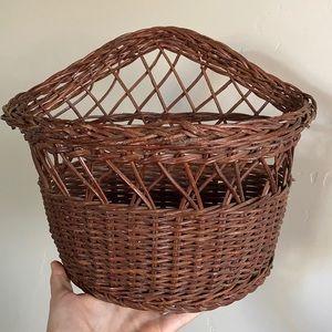 Dark Wicker Wall Basket